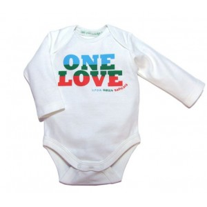 Body One Love (biale) - Little Green Radicals
