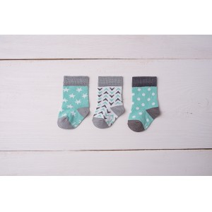 Skarpetki bambusowe Gift Pack Very Blue&Grey - Green Elefant