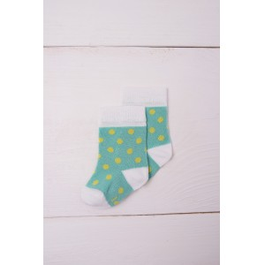 Skarpetki bambusowe Blue&Lemon Dots - Green Elefant